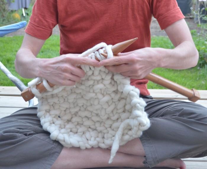 comment tricoter des grosses mailles
