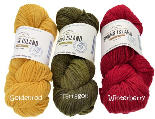Nouveau : Swans Island NATURAL COLORS COLLECTION WORSTED !