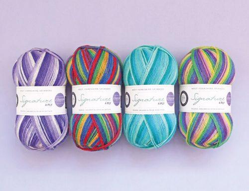 SIGNATURE 4PLY – Laine à chaussettes Auto-rayantes : Quatre nouveaux coloris !