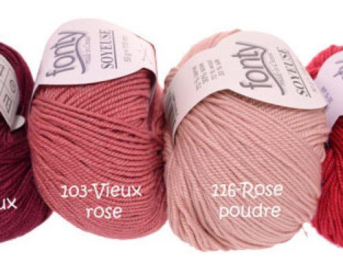 Nouveau : SOYEUSE laine/soie de Fonty !